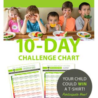 10-Day Grow Healthy Challenge Chart for Kids 5 to 11 - freshisreal.com