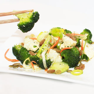 Broccoli Cauliflower Leek Salad