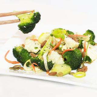 Broccoli Cauliflower Leek Salad