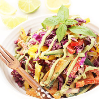 Easy Raw Vegan Rainbow Coleslaw with 5-Minute Dressing - Completely Allergen-Friendly Chantal | freshisreal.com