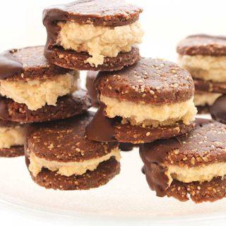 Fun-to-make Raw Vegan Coconut Seed Chocolate-Dipped Freezer Cookies   Chantal   freshisreal.com
