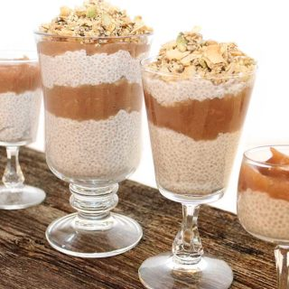 A must try Coconut Chia Apple Sauce Parfait with Seed Granola recipe. Less than 10 ingredients per layer. Low-sugar dessert. Great for special occasions. Egg, dairy and gluten-free, plant-based, and kid-friendly. Chantal   freshisreal.com