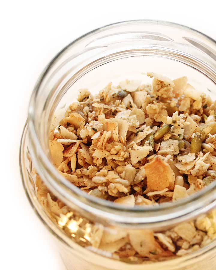 A must try Coconut Chia Applesauce Parfait with Seed Granola recipe. Only a few ingredients per layer. Low-sugar dessert. Great for special occasions or your next Sunday night dinner treat! Egg, dairy and gluten-free, plant-based, and kid-friendly. Chantal | freshisreal.com