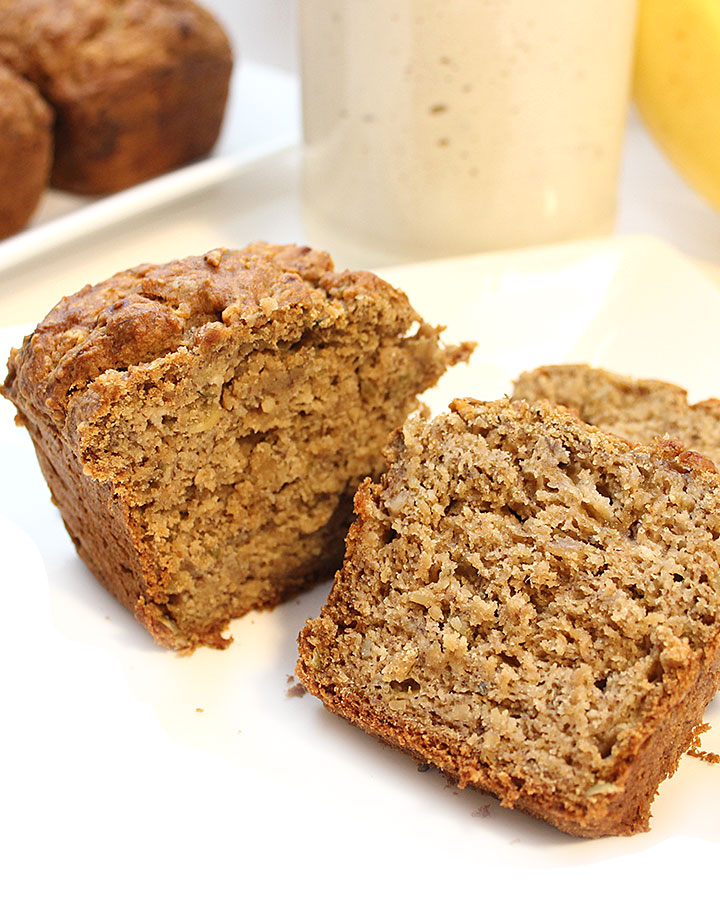 1-Bowl > Mix > Bake! Banana Sourdough Seed Bread recipe, vegan, gluten-free, and completely allergen-friendly.