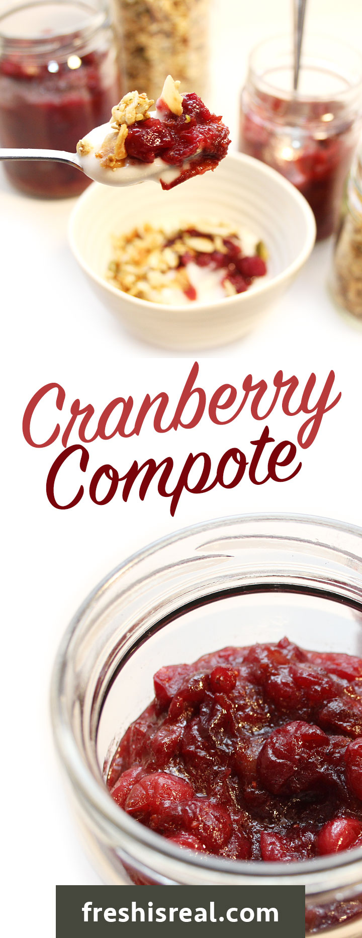 Dark red, fresh organic cranberries cooked in a sauce pot with maple syrup, Medjool dates, orange and lime zest and juice. #cranberry #freshisreal #cranberrysauce