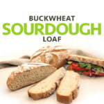 A picture of a beautiful crusty free-form gluten-free and vegan buckwheat sourdough loaf. Allergen-Friendly. freshisreal.com