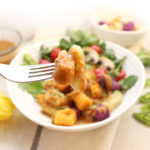 Colourful gluten-free vegan gnocchi prepared with 3 simple ingredients: mashed potatoes of choice (e.g., russet, yellow, sweet potato, etc.), arrowroot starch/flour and potato flour. Salt, pepper and garlic powder are optional but make these little bites so delicious! Serve with your favourite tomato sauce or my Vegan Mushroom Gravy. For recipes visit freshisreal.com