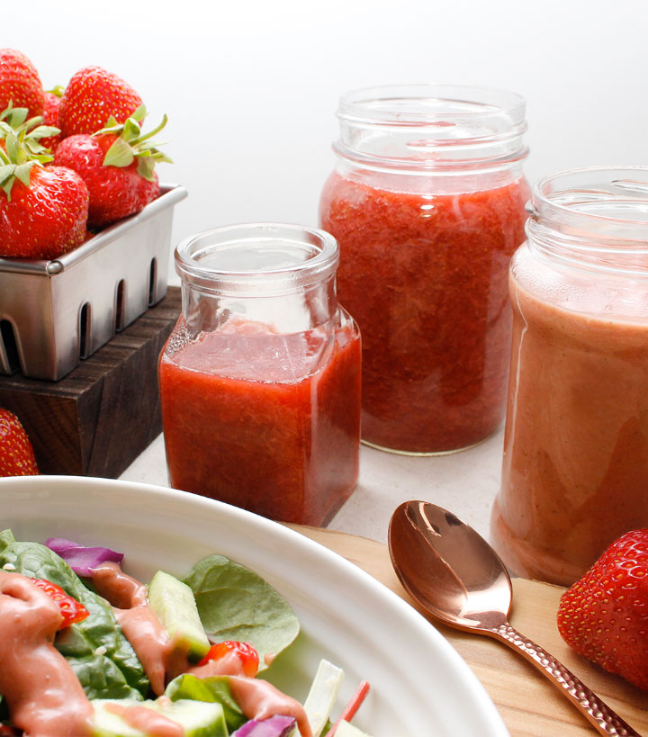 Combine fresh strawberries and rhubarb with a little maple syrup, lemon juice and simmer until some of the liquid evaporates. Refined sugar-free. Find the recipe at freshisreal.com