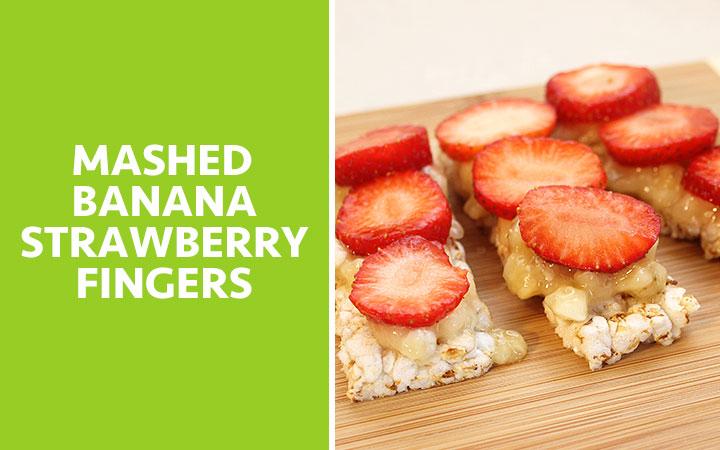 Mashed Banana Strawberry Fingers