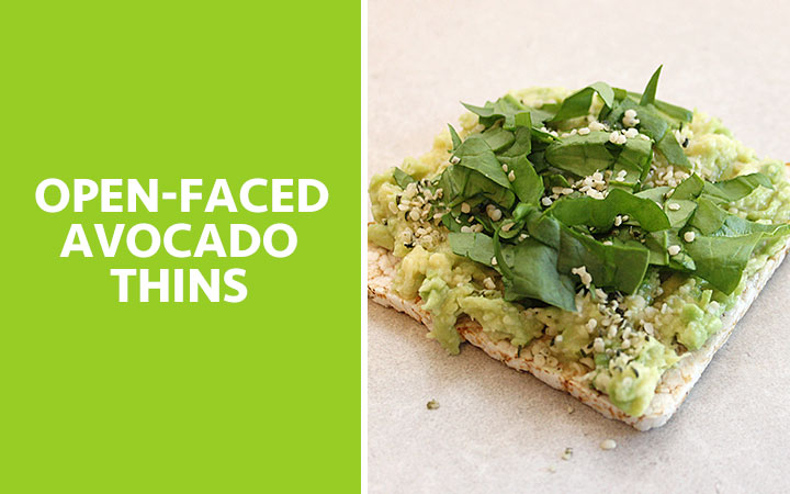 Open-Faced Avocado Thins