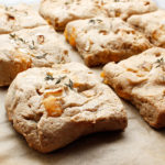The most scrumptious and tasty allergen-friendly square shaped Easy Apple Cheddar Herb Biscuits. For the recipe visit freshisreal.com.