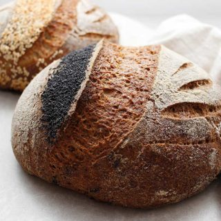 A sourdough loaf prepared with a sorghum sourdough starter (wild yeast). This gluten-free, egg-free and dairy-free bread recipe is also rice-free, vegan and completely allergen-friendly.
