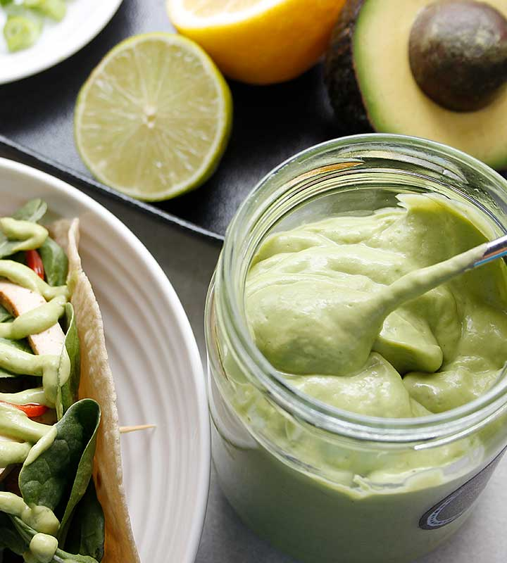 A quick 10-Ingredient gluten-free, vegan, and junk-free avocado dip! Visit freshisreal.com for the recipe.