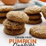 Perfect Grain-Free Pumpkin Cookies! Spiced just right and also gluten-free, vegan, nut-free and allergen-friendly!