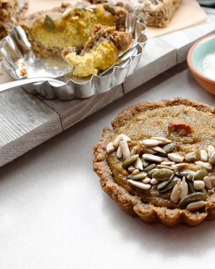 A gorgeous grain-free pumpkin tart that is also gluten-free, vegan, nut-free and allergen-friendly.