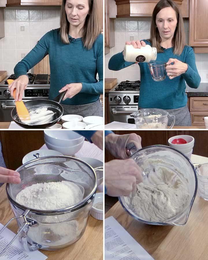 Process shots for Gluten-Free Sourdough Cinnamon Rolls by Fresh is Real
