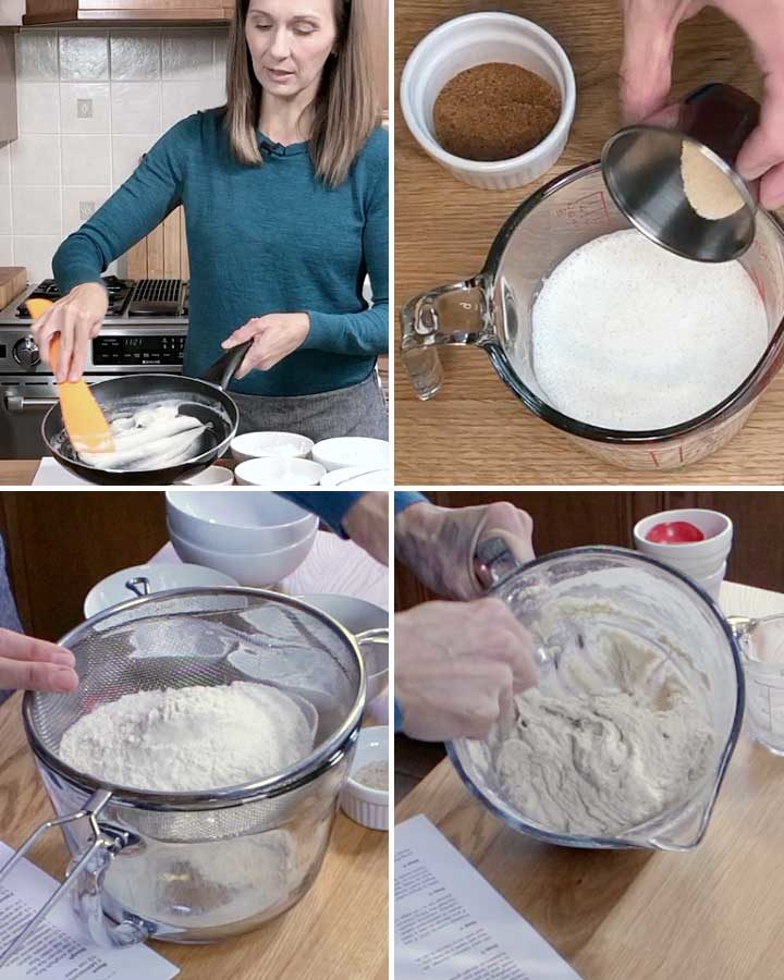 Process shots for Easy Gluten-Free Vegan Cinnamon Rolls by Fresh is Real