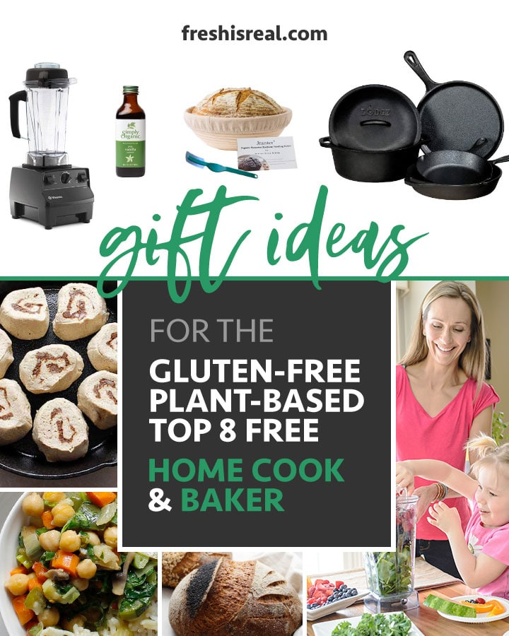 Gift ideas for the home cook and baker. Perfect allergen-friendly gifts by freshisreal.com