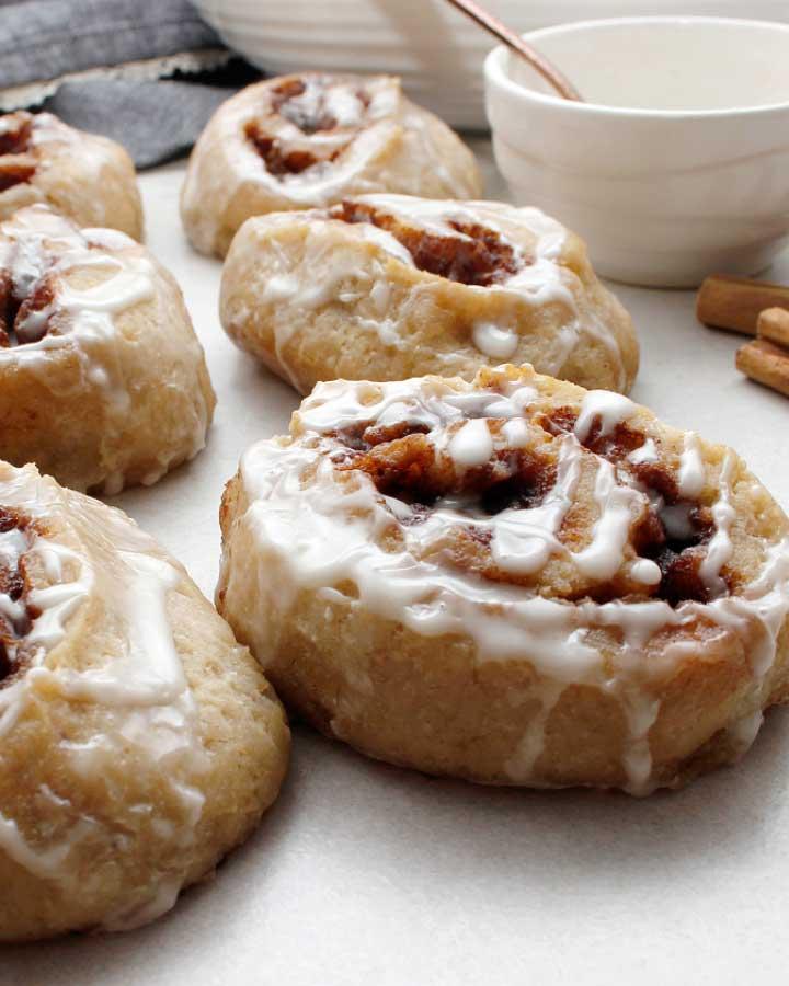 Gluten-free Sourdough Cinnamon Rolls. Free of Wheat, Eggs, Dairy. Allergy-Friendly. freshisreal.com