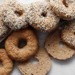 Yeasted gluten-free, vegan and allergen-friendly bagels.