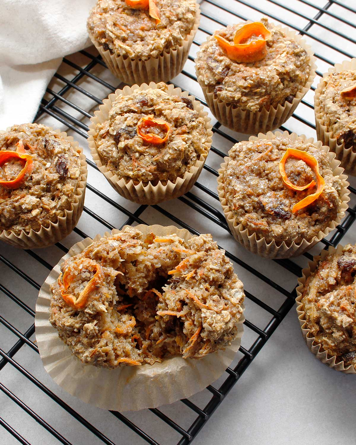 Gluten-free, vegan and allergen-friendly healthy morning glory muffins by Fresh is Real.