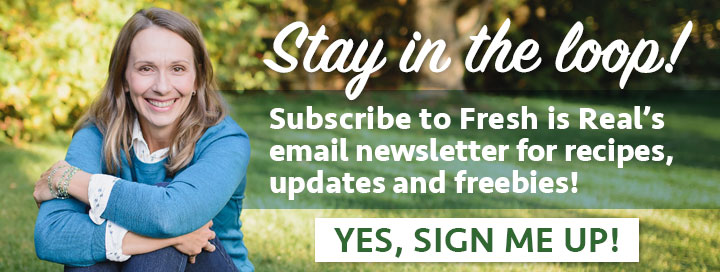 Fresh is Real - Email sign up graphic