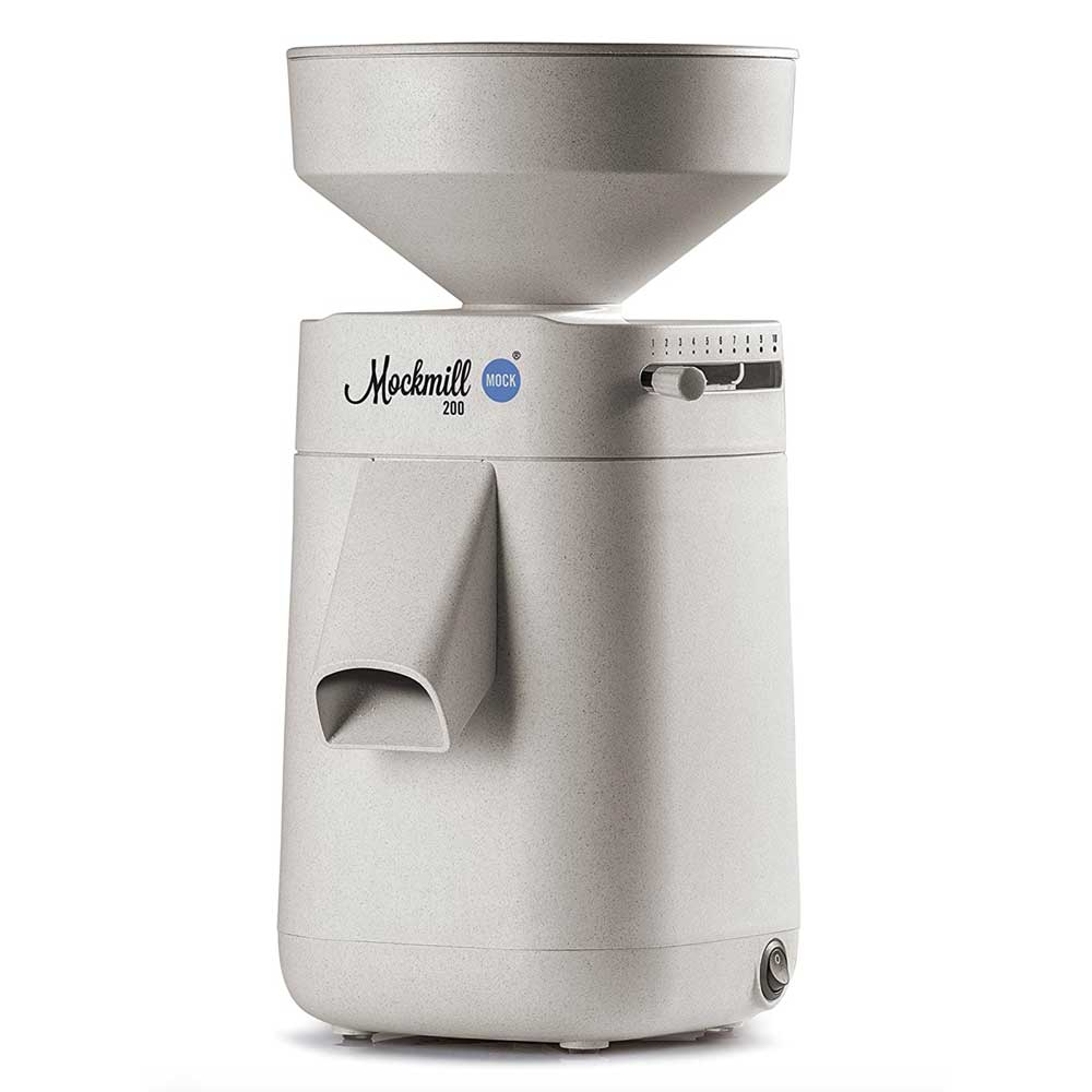 Grain mill for whole grain, seeds, legumes.