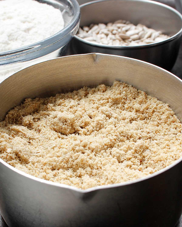 Freshly milled sunflower seeds. freshisreal.com