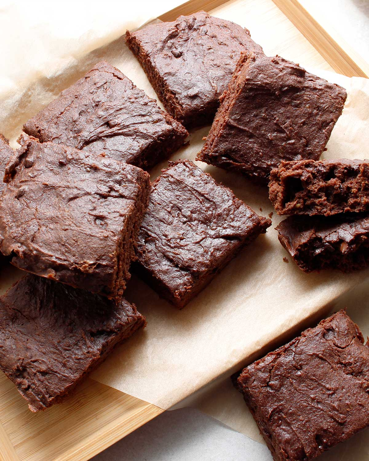 Gluten-free sourdough brownies recipe by Fresh is Real.