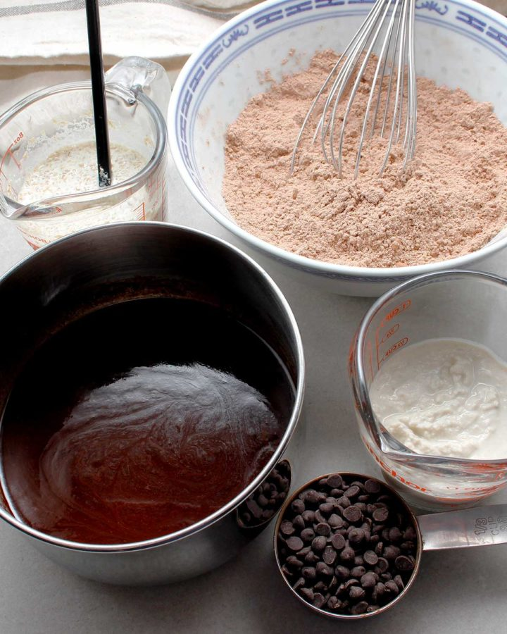 Ingredients for allergen-friendly brownies.