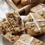 Hot Cross Buns prepared with gluten-free sourdough starter.
