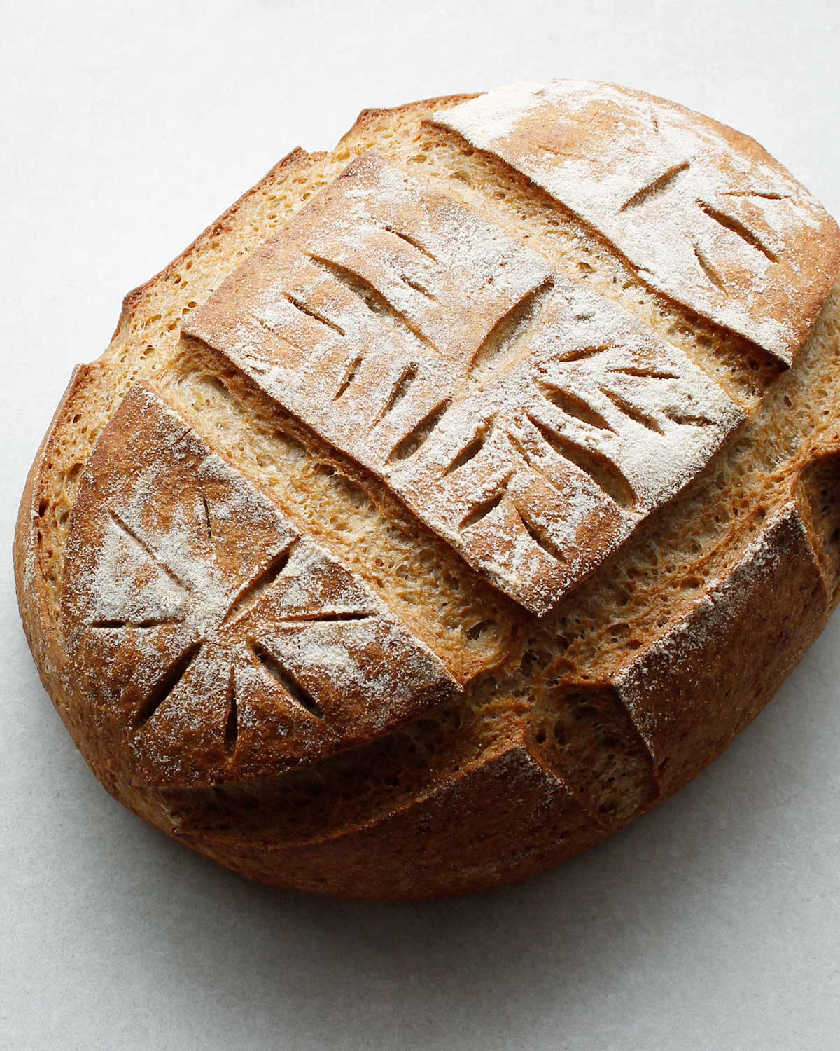 Gluten-free sourdough bread scoring