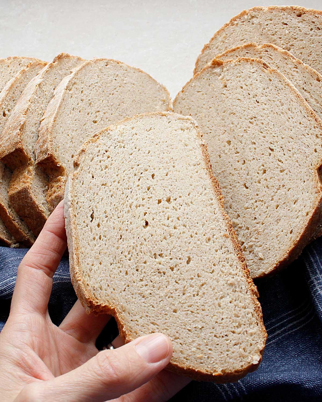 Tight crumb—gluten-free wild yeast bread