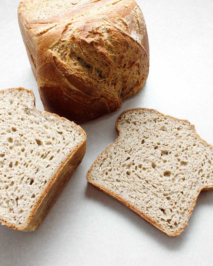 Sliced gluten-free wild yeast bread