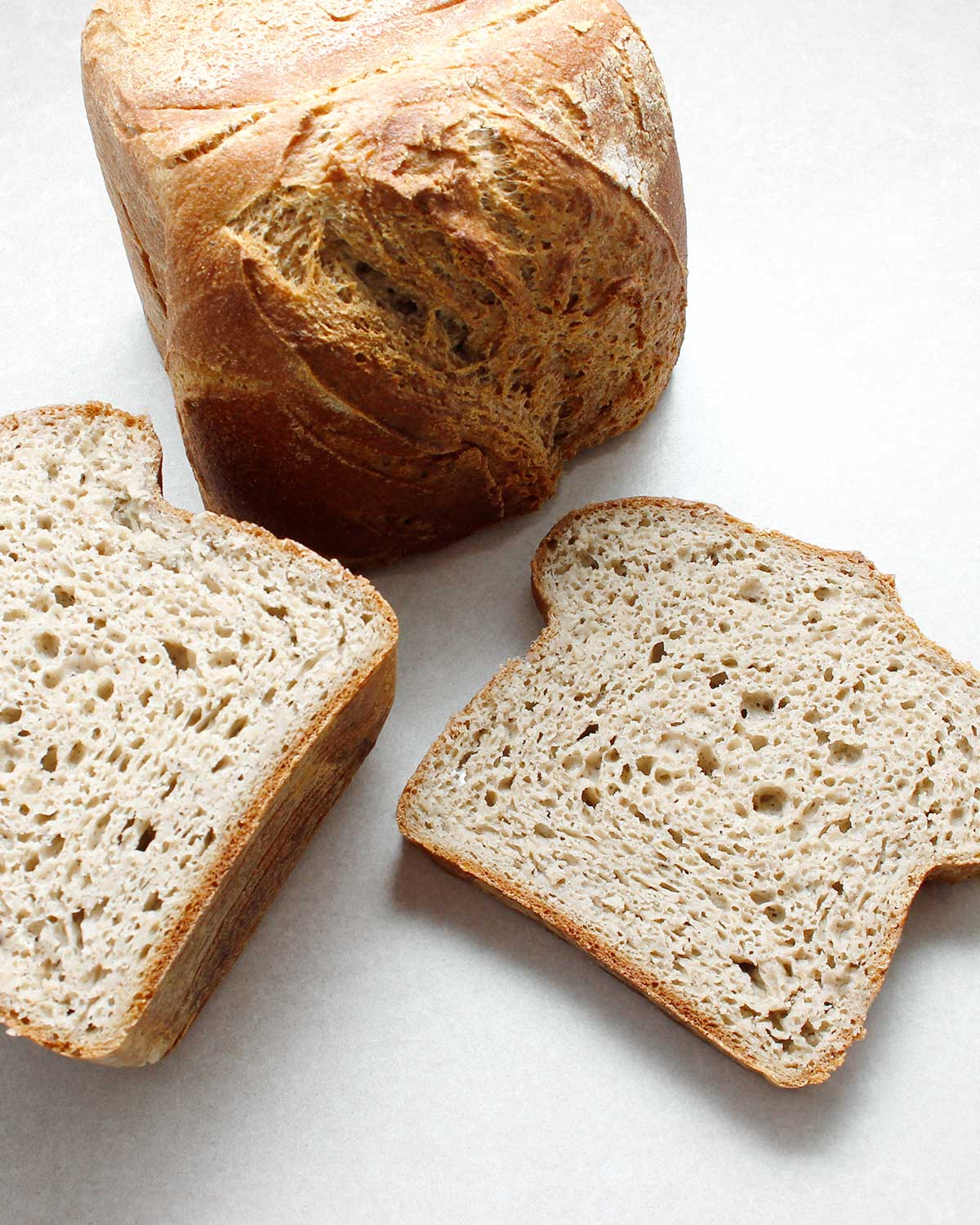 Sliced gluten-free wild yeast bread