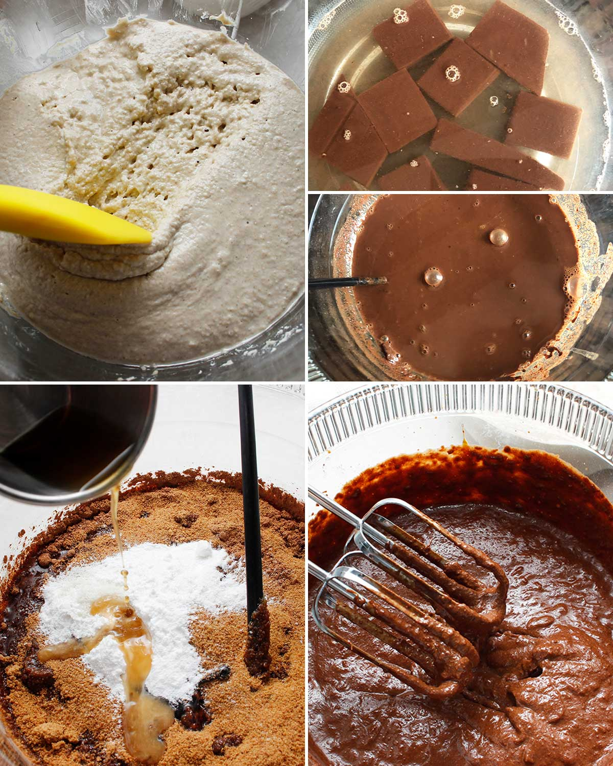 Ingredients for GF chocolate cupcakes