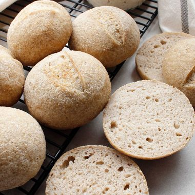 Perfectly baked GF sourdough rolls